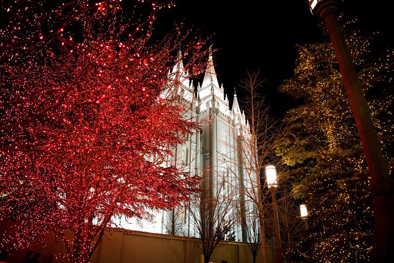 Salt Lake Temple at Christmastime