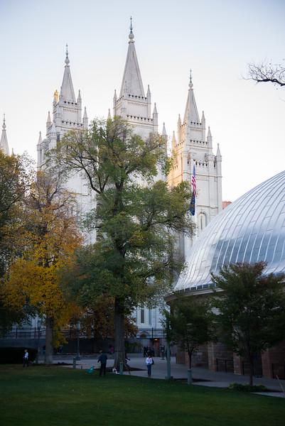 Temple Square in Salt Lake City, Utah