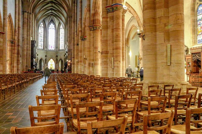 Vista Interior da Catedral de Colmar