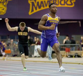 Minnesota State Track 60 meter Dash Kyran Stewart