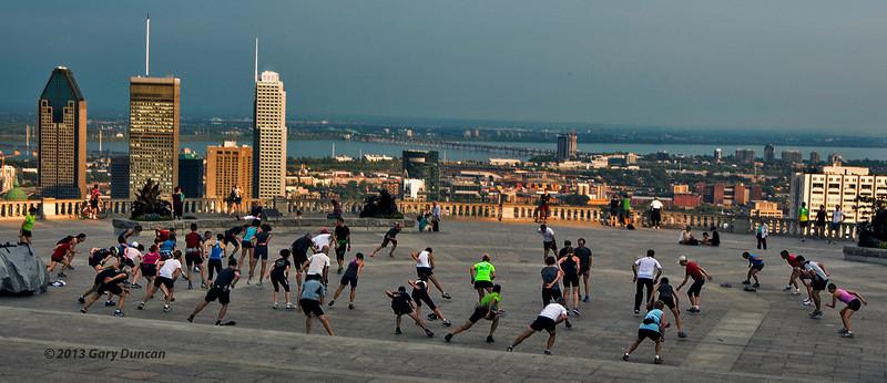 Skimco, first practice of the 2013-2014 season<br /> Mont Royal, Belvédère, Montreal, Québec<br /> September 12, 2013