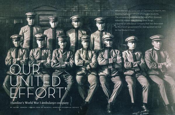 1917 Hamline University ambulance company