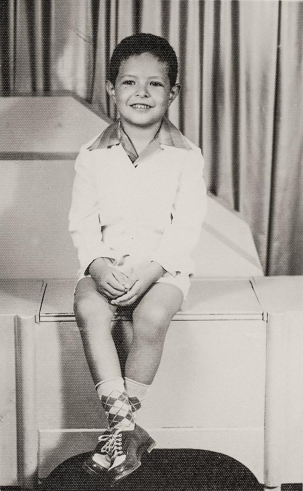 Sort ID: 1954-01 Image ID: B056 Date: Aug 1954. Photo content: Fred. Location of photo: Taken at Gabusi Studio, 128 W Congress, Tucson.
