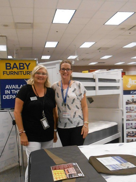 Tempurpedic and Sealy - Navy - Pensacola - Alisa, USSC Rep  with Sheila, Nex associate - Labor Day - 9.4.2017