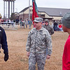 (FORT BENNING, Ga) Maj. Gen. H. R. McMaster does the coin toss at the 11th Engineers Annual Turkey Bowl, November 27, 2013.  (Photos by: Patrick A. Albright/MCoE Photographer)