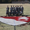 52nd Company Soldiers proudly display their contribution for the Turkey Bowl football field
