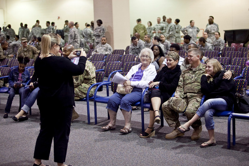 (FORT BENNING, Ga) Army personnel, civilians, and guests attend the Casing and Deployment Ceremony for the 14th Combat Support Hospital Monday, September 24, 2012 at Freedom Hall, Fort Benning Ga. (Photo by: Patrick A. Albright/MCoE PAO Photographer)