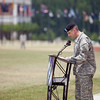 (FORT BENNING, Ga) Col. Johnnie L. Johnson Jr. relinquishes command of the 3rd Armored Brigade Combat Team, 3rd Infantry Division to Col. Charles D. Costanza during a ceremony, April 17, 2013 at the National Infantry Division Parade Field. Command Sgt. Maj. Brian D. Harrison relinquished responsibility to Command Sgt. Maj. Michael D. Green during the ceremony. (Photo by Ashley Cross/MCoE PAO Photographer)