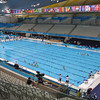 Swimmers prepare for their events at the 2012 Olympic Games in London. (Photo by Michael Molinaro, USAMU PAO)