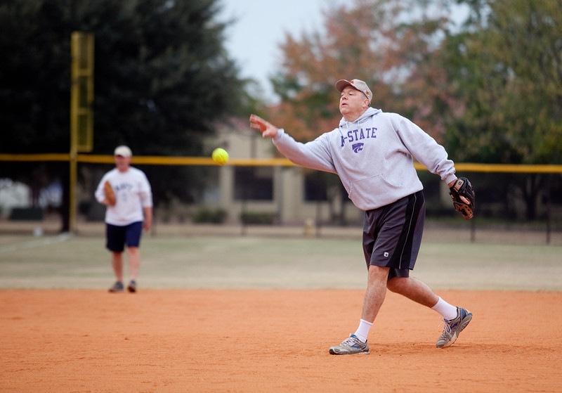 (FORT BENNING, Ga) The Western Hemisphere Institute for Security Cooperation Soldiers play a friendly game of baseball against the Maneuver Center of Excellence and Fort Benning Command Groups, November 15, 2013 at Gowdy Field. (Photo by Ashley Cross/MCoE PAO Photographer)