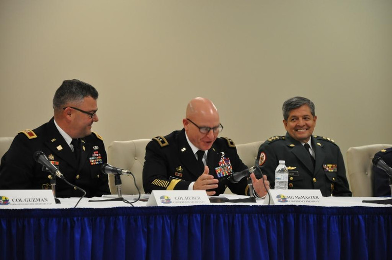 "The MCoE hosted the Conference of American Armies Specialized Conference on New Challenges to Defense in the 21st Century from April 7-11, 2014 in Columbus, Ga.  <br /> The conference brought together leaders from 25 countries throughout the Western Hemisphere to discuss ""the American armies, their contribution to peacekeeping operations, disaster relief operations and the new challenges of the XXI century to defense, developing procedures to facilitate cooperation and interoperability among the member armies, taking into consideration their legitimate differences in capabilities, roles and the legal framework of each country.""   <br /> <br /> The Conference of American Armies provides a forum for regional chiefs of armies to strengthen integration and cooperation, study problems of mutual interest, establish, and contribute to hemispheric security, protect against all threats to peace, democracy and freedom and enhance interpersonal relationships.  <br /> <br /> (Photo by Lee Rials, WHINSEC Public Affairs)"