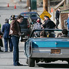 Ben Affleck get into a car on Cane Street during filming. SENTINEL & ENTERPRISE/JOHN LOVE