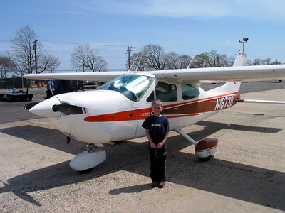Phil and our old but faithful plane