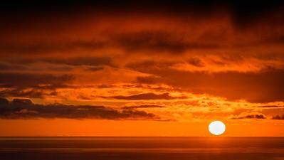 Sunset off the Southwestern Coast