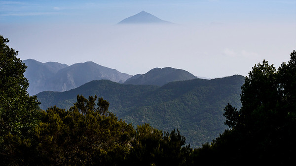 Pico del Teide seen from Neighbouring Island of La Gomera
