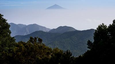 Pico del Teide seen from Neighbouring Island of La Gomera