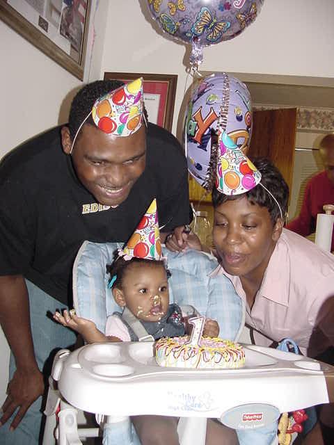 Enjoying Birthday Cake