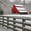 Red Barn in March - Rutledge Falls Natural Area - Tullahoma, TN