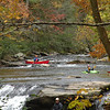 Colorful kayaks and canoes on Bald River