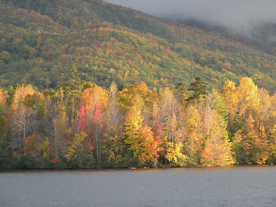 Bright Fall colors on the far side.