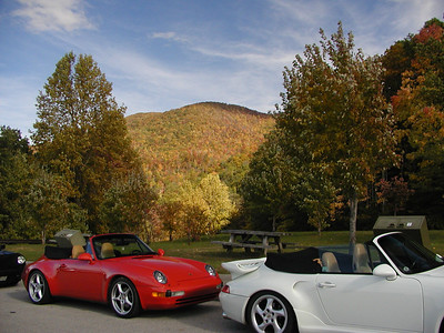 Lots of Porsches and Boxsters and other fancy cars at Eagle Gap.