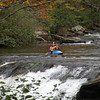 Kayaker on Bald River just above Baby Falls