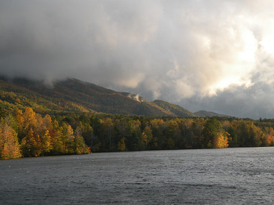 Clouds across the lake