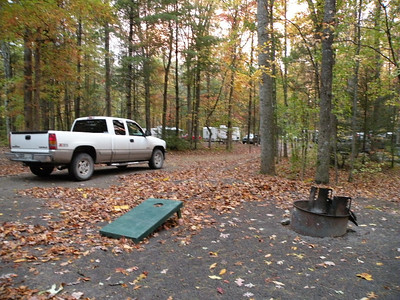 Kenny's truck and looking around camp