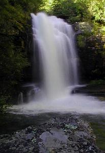 Bullett Creek Falls-- visit #1 Slopes of Starr Mtn.  Cherokee National Forest, TN