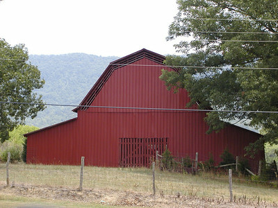 Pretty red barn along the side of Old Mecca Pike on the way to Starr Mtn. You can see the mountain in the background.