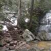Stone steps leading to Benton Falls