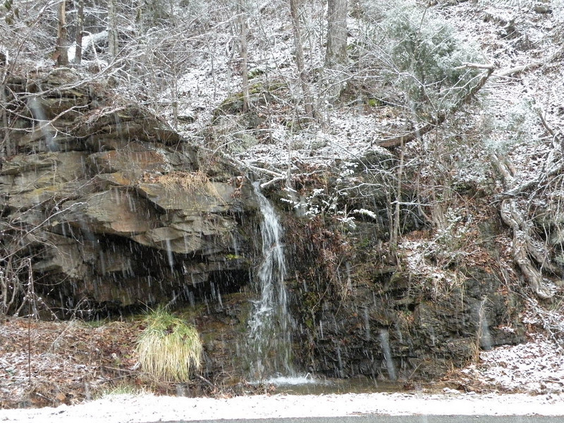 Small waterfall along Old Walland Highway on Friday afternoon 1/29/10. I  stopped to take this shot out of cabin fever and boredom being indoors all day.