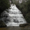 Benton Falls on a snowy, rainy day.  It is 65 ft high<br /> Polk Co, TN