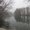 Little River in Blount County, TN near my home in Walland. A gray, snowy afternoon. I stopped to take this photo on my drive to Walland Center to fill the tank with gas.