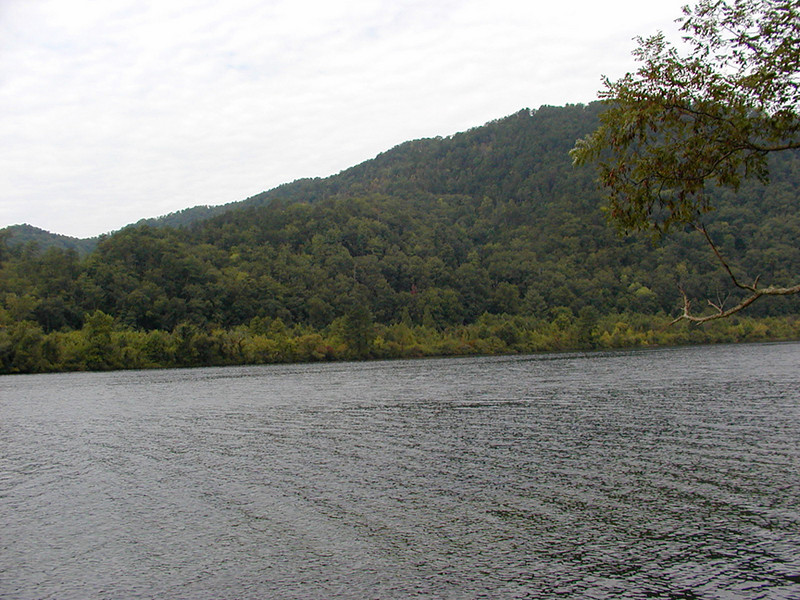 Where we're bound......... over there. The far shore of Chilhowee Lake.<br /> Blount County, TN