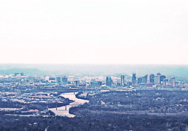 Nashville Skyline and Cumberland River