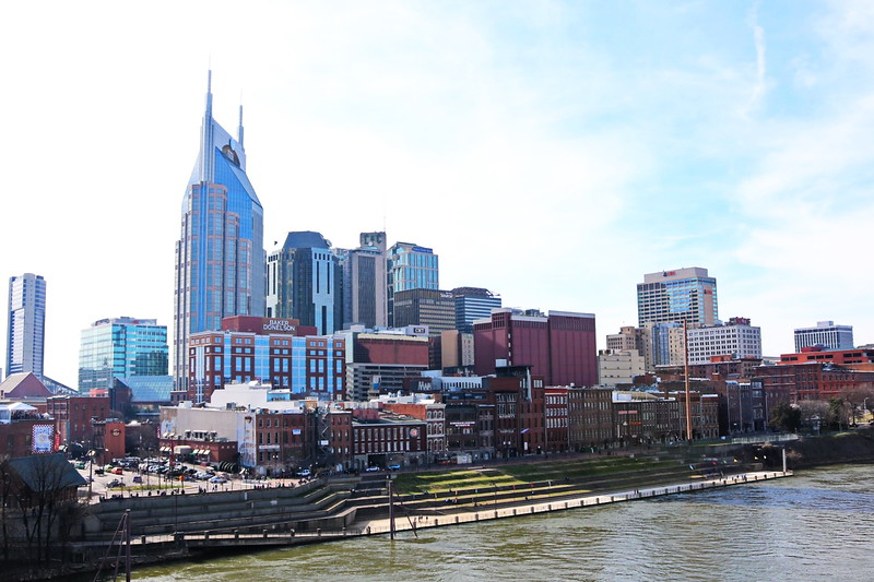 Downtown Nashville on the Cumberland River
