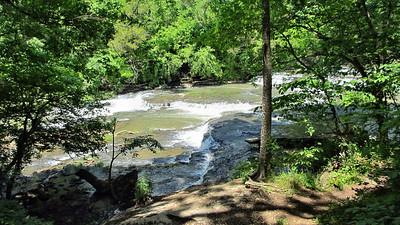 Visiting and hiking at Burgess Falls State Park near Cookeville, TN