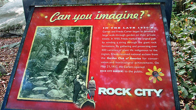 Visiting Rock City on top of Lookout Mountain in Chattanooga, TN
