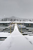 Snow falls and covers the boardwalk at Painters Creek Marine on South Holston Lake in Bristol, TN on Thursday, February 13, 2014. Copyright 2014 Jason Barnette