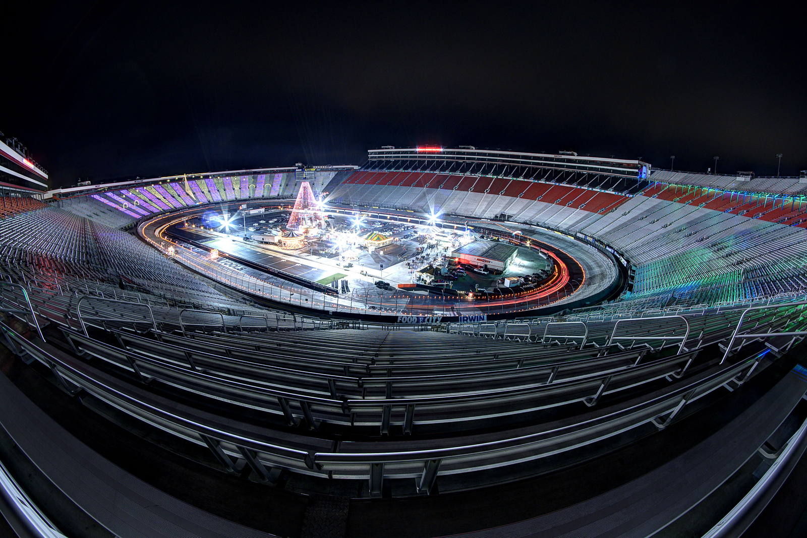 When the last great coliseum becomes the speedway in lights the infield provided entertainment photos with santa and food during the speedway in lights aloadofball Gallery