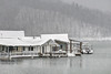 A heavy snow falls at Painters Creek Marina on South Holston Lake in Bristol, TN on Thursday, February 13, 2014. Copyright 2014 Jason Barnette