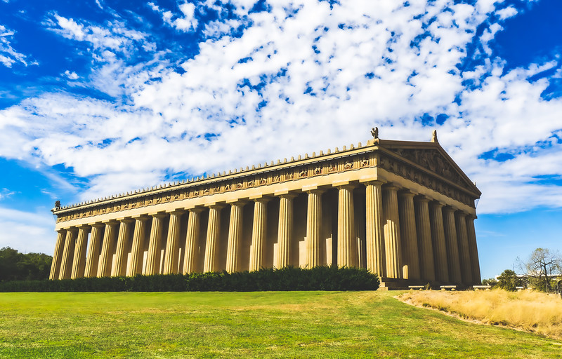 The Parthenon at Centennial Park in Nashville Tennessee