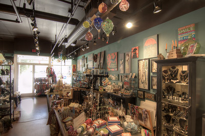 Local arts and crafts inside a small store in the NorthShore neighborhood in Chattanooga, TN on Wednesday, July 22, 2015. Copyright 2015 Jason Barnette