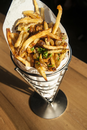 A side order of fries at the Flying Squirrel in Chattanooga, TN on Wednesday, July 22, 2015. Copyright 2015 Jason Barnette