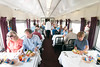 Passengers with the lunch option enjoy sandwiches in the dining car during the Chickamauga Turn at the Tennessee Valley Railroad Museum in Chattanooga, TN on Saturday, July 18, 2015. Copyright 2015 Jason Barnette