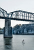 Paddleboarder on the Tennessee River in Chattanooga, TN