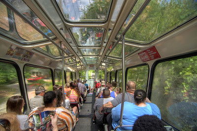 The view inside a car on the Incline Railway in Chattanooga, TN on Wednesday, July 22, 2015. Copyright 2015 Jason Barnette