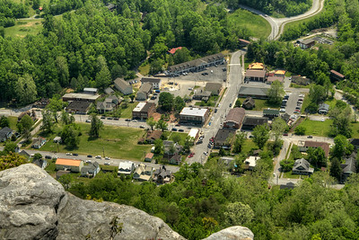 A view of the small town of Cumberland Gap from the scenic overlook at Cumberland Gap National Historical Park in Middlesboro, KY on Saturday, May 9, 2015. Copyright 2015 Jason Barnette