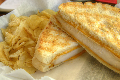 A Chicken Panini Melt at the locally owned Grap Creek Coffeehouse in Cumberland Gap, TN on Saturday, May 9, 2015. Copyright 2015 Jason Barnette